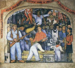 Diego Rivera - Arsenal The Distribution of Arms