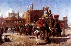 Edwin Lord Weeks - The Return Of The Imperial Court From The Great Nosque At Delhi, In The Reign Of Shah Jehan