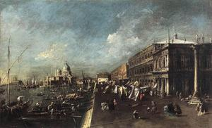 Francesco Lazzaro Guardi - View of the Molo towards the Santa Maria della Salute