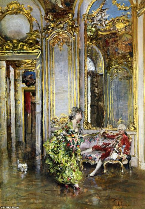 famous painting A Friend of the Marquis of Giovanni Boldini