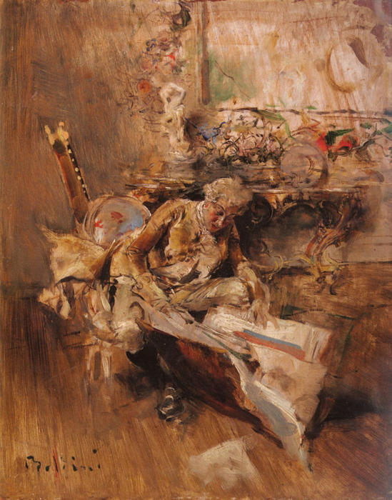 famous painting The Art Connoisseur of Giovanni Boldini