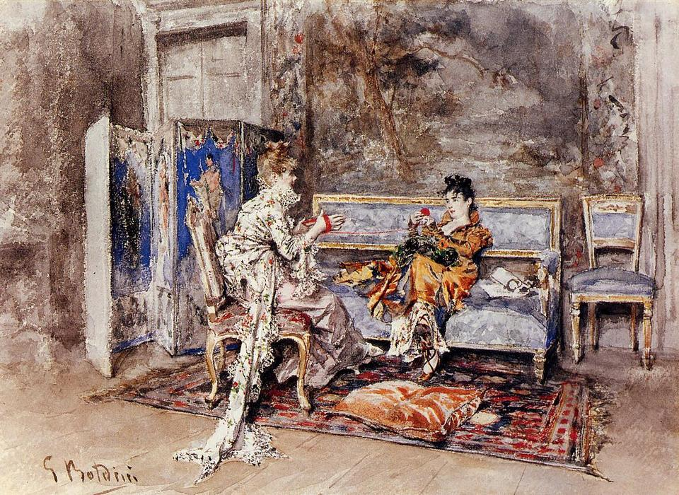 famous painting The Conversation of Giovanni Boldini