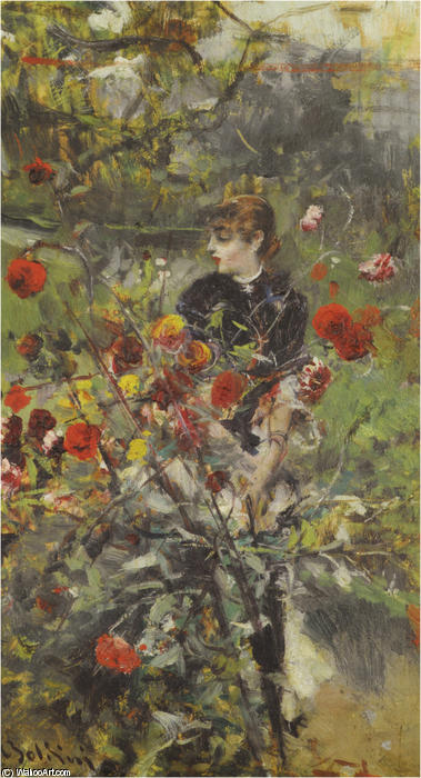 famous painting The Summer Roses of Giovanni Boldini