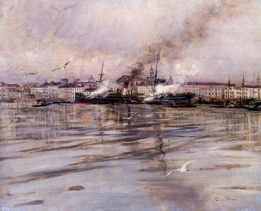famous painting View of Venice of Giovanni Boldini
