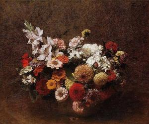 Henri Fantin Latour - Bouquet of Flowers