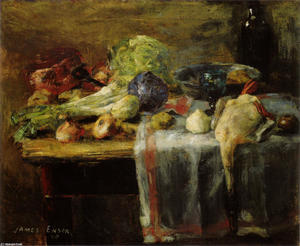 James Ensor - Still Life with Duck