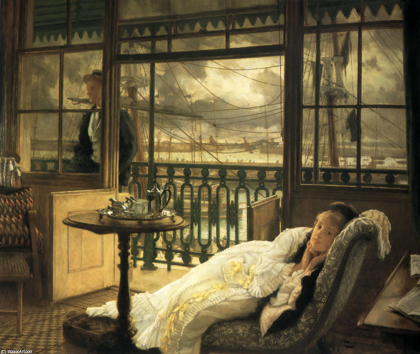 famous painting A Passing Storm of James Jacques Joseph Tissot