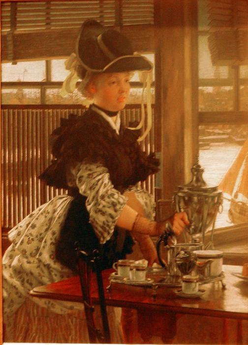 famous painting Afternoon Coffee of James Jacques Joseph Tissot