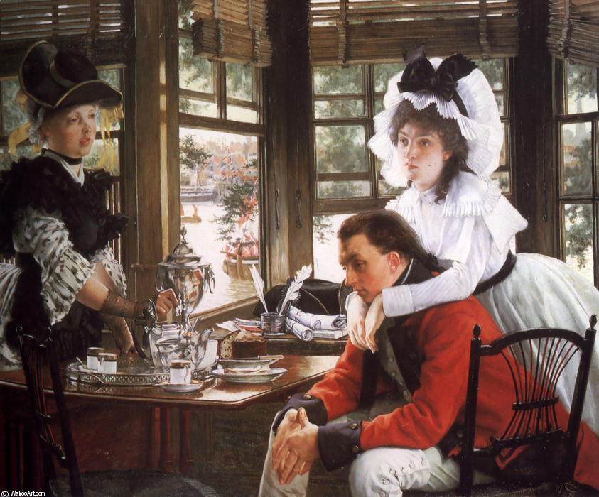 famous painting Bad News of James Jacques Joseph Tissot