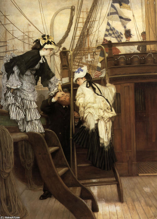 famous painting Boarding the Yacht of James Jacques Joseph Tissot