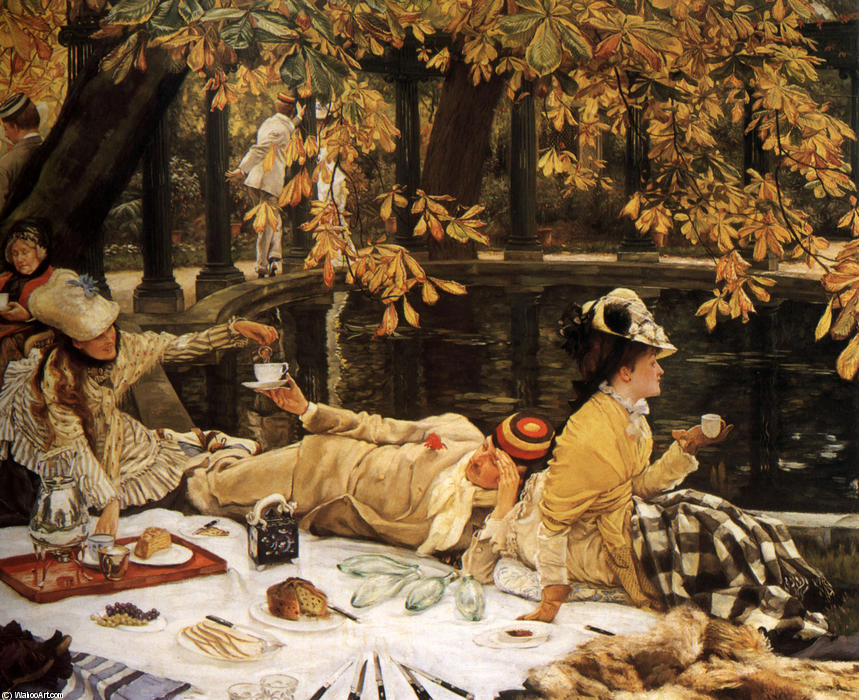famous painting Holyday of James Jacques Joseph Tissot