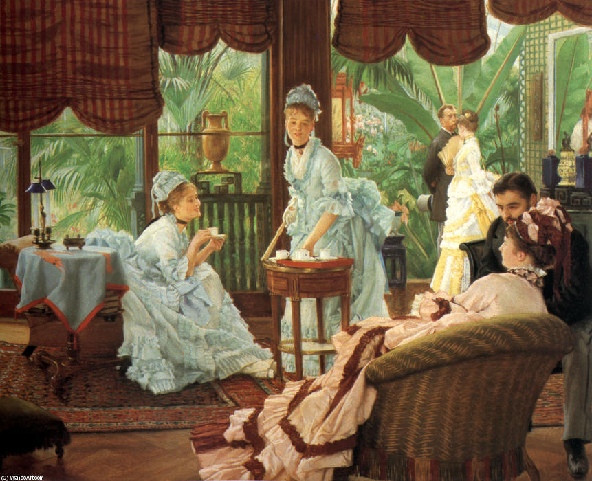 famous painting In the Conservatory of James Jacques Joseph Tissot