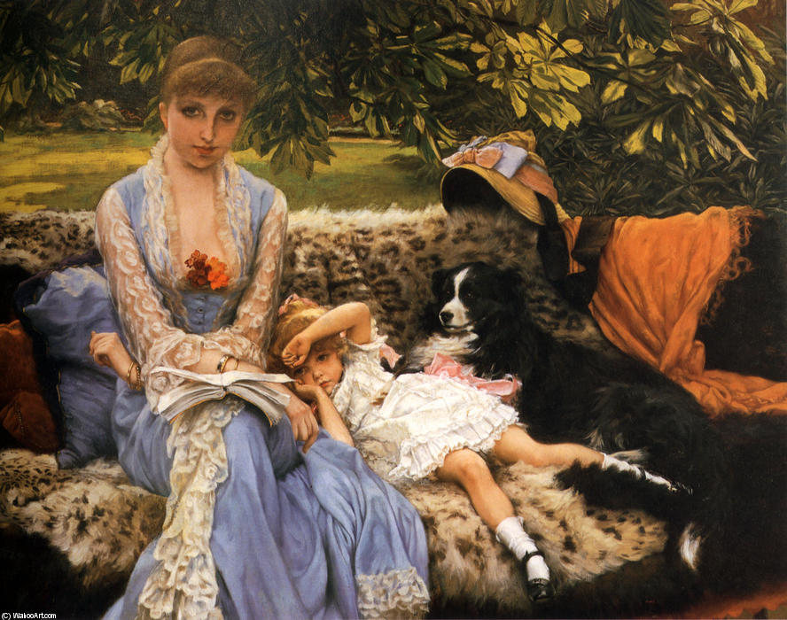 famous painting Quiet of James Jacques Joseph Tissot