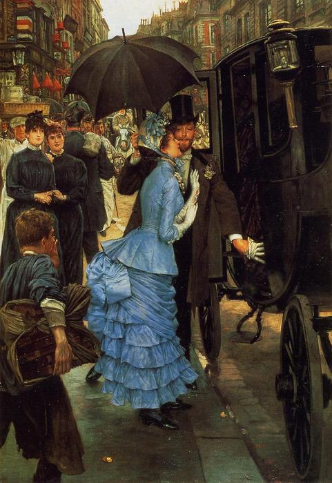 famous painting The Bridesmaid of James Jacques Joseph Tissot