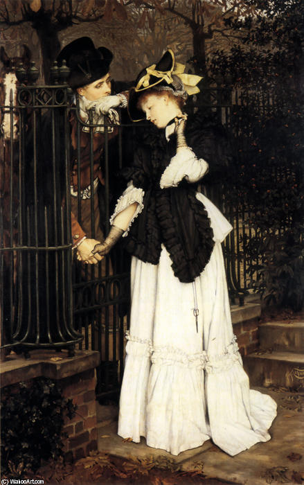 famous painting The Farewell of James Jacques Joseph Tissot