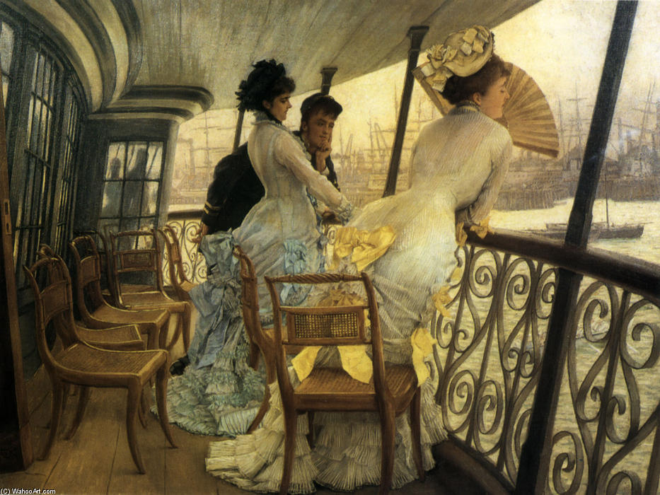 famous painting The Gallery of H.M.S. 'Calcutta' (Portsmouth) of James Jacques Joseph Tissot