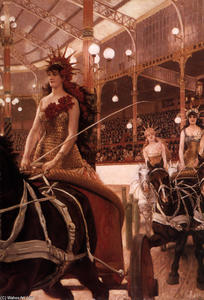 James Jacques Joseph Tissot - The Ladies of the Cars