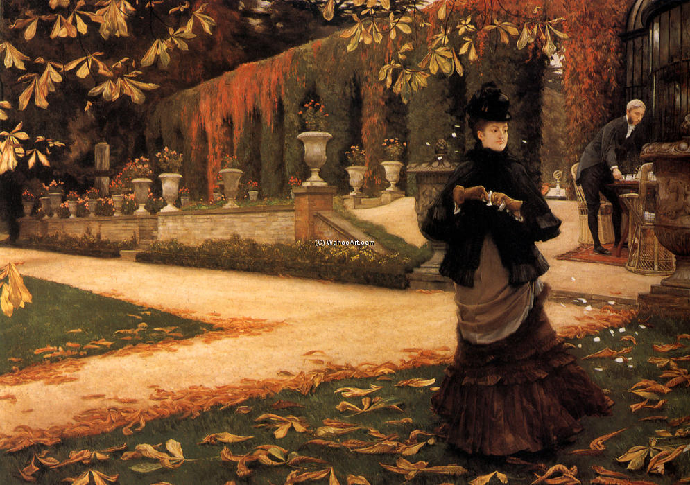 famous painting The Letter of James Jacques Joseph Tissot