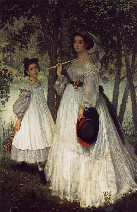 famous painting The Two Sisters; Portrait of James Jacques Joseph Tissot