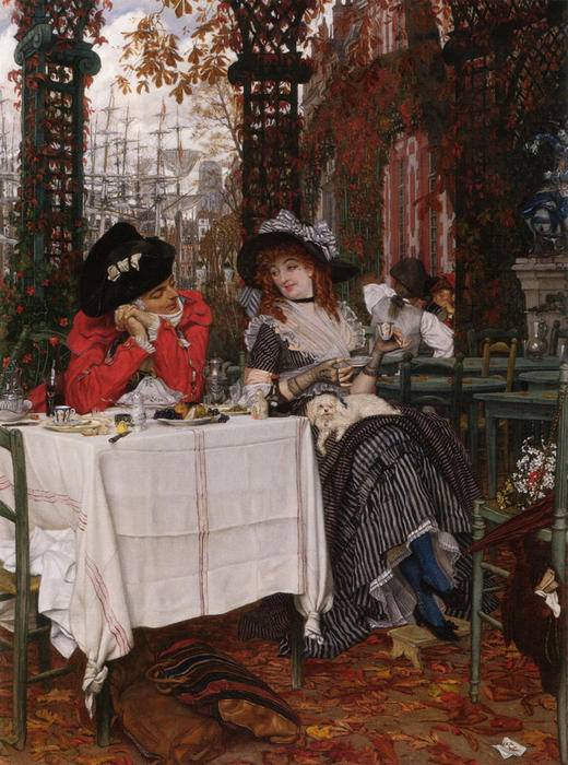 famous painting Un Dejeuner of James Jacques Joseph Tissot