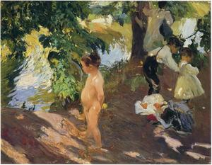 Joaquin Sorolla Y Bastida - Bathing at La Granja