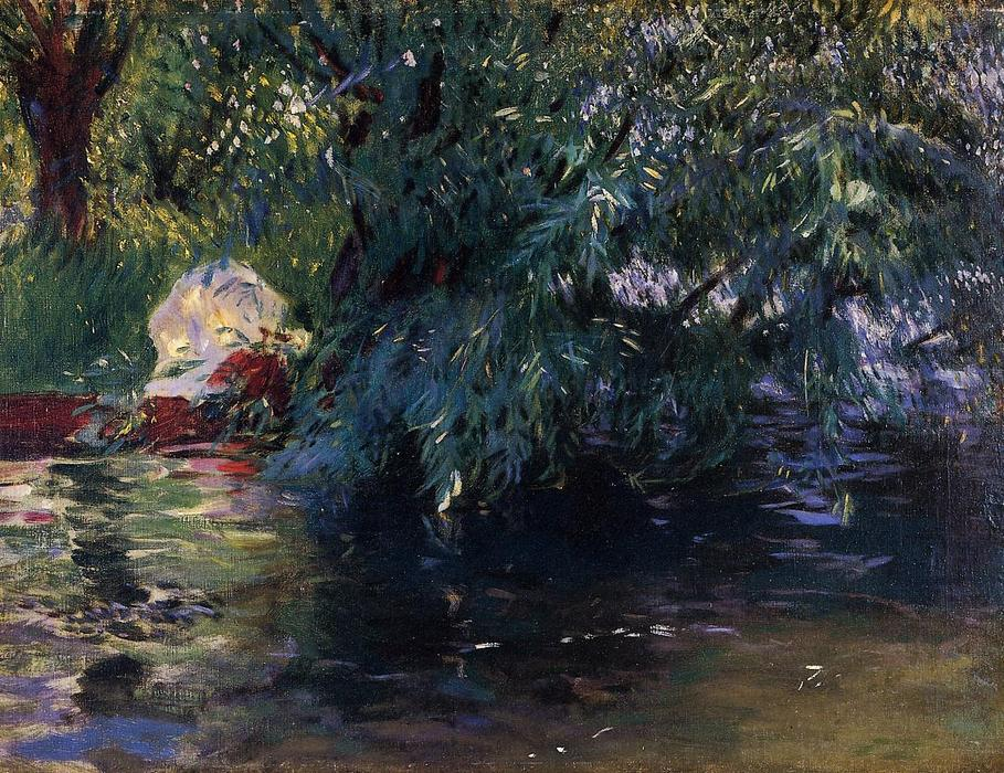 famous painting A Backwater, Calcot Mill near Reading of John Singer Sargent