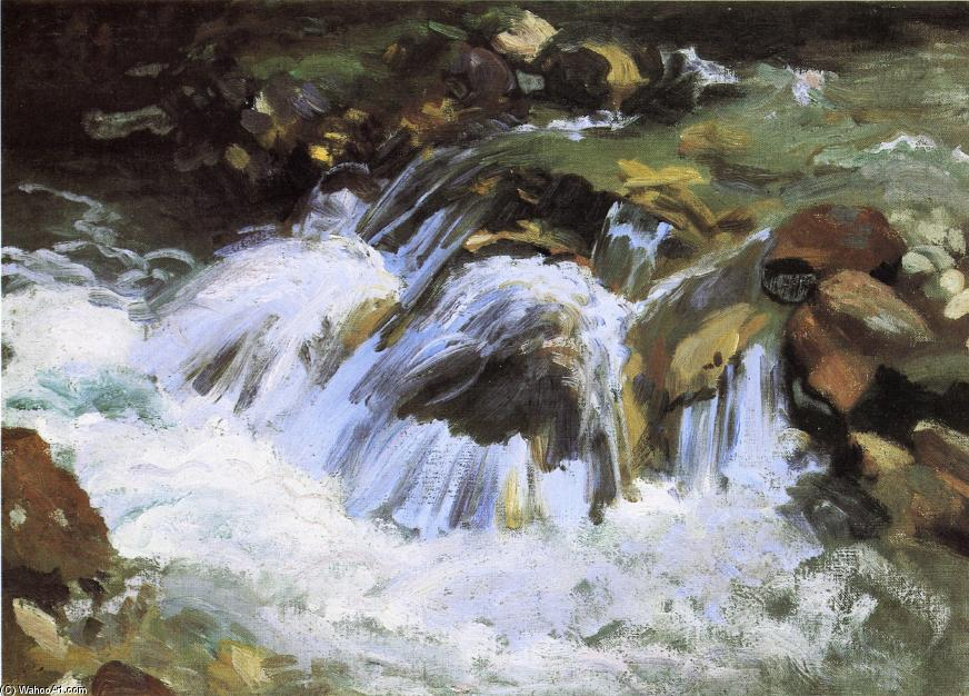 famous painting A Mountain Stream, Tyrol of John Singer Sargent