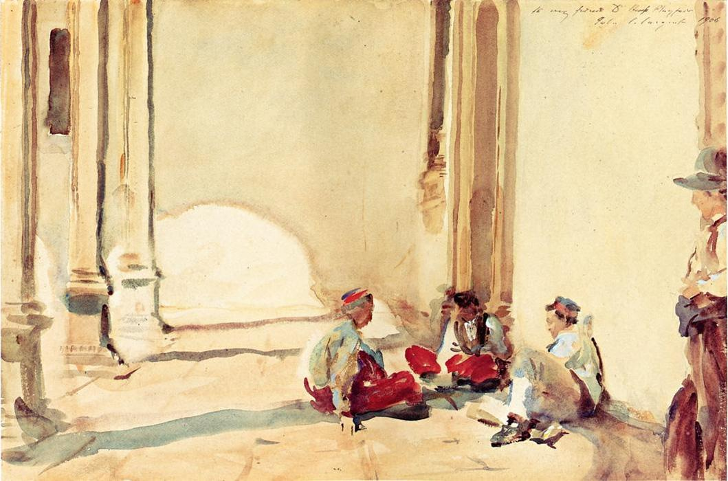 famous painting A Spanish Barracks of John Singer Sargent