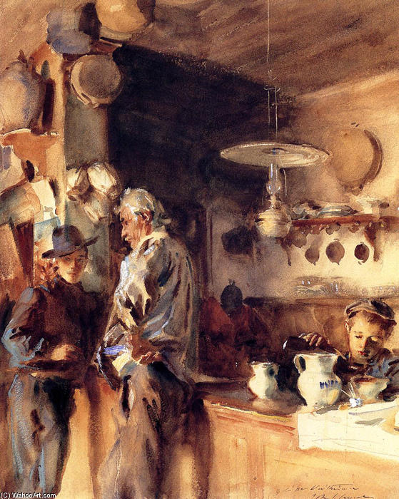 famous painting A Spanish Interior of John Singer Sargent