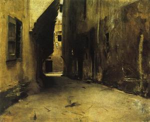 John Singer Sargent - A Street in Venice 1