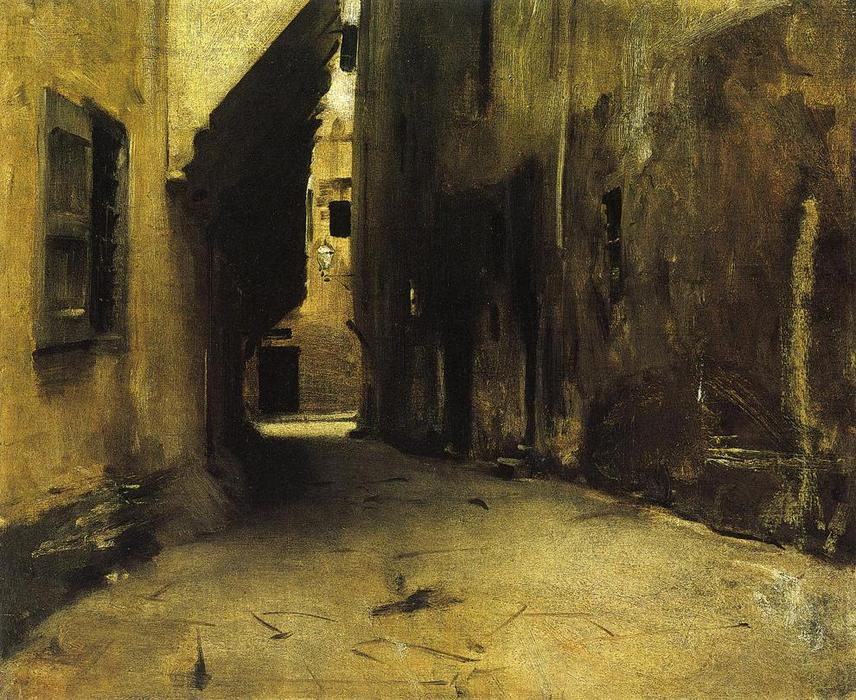 famous painting A Street in Venice 1 of John Singer Sargent