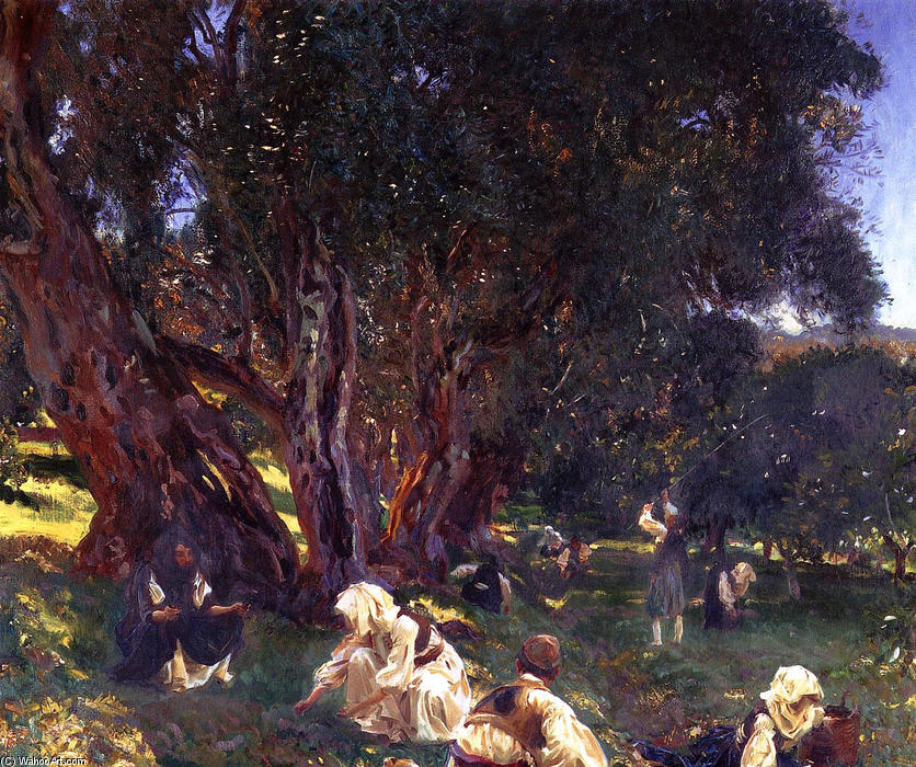 famous painting Albanian Olive Pickers of John Singer Sargent