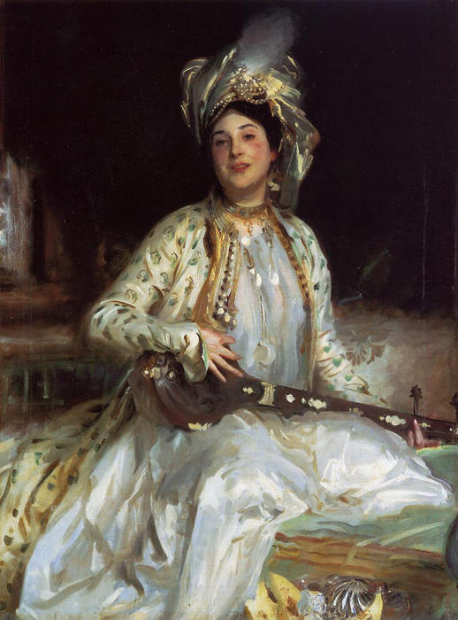 famous painting Almina, Daughter of Asher Wertheimer of John Singer Sargent