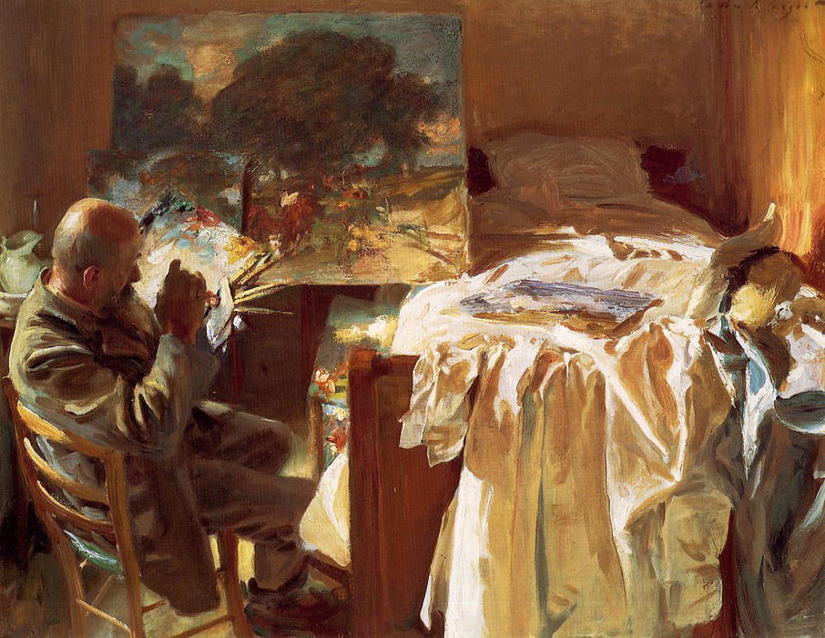 famous painting An Artist in his Studio of John Singer Sargent