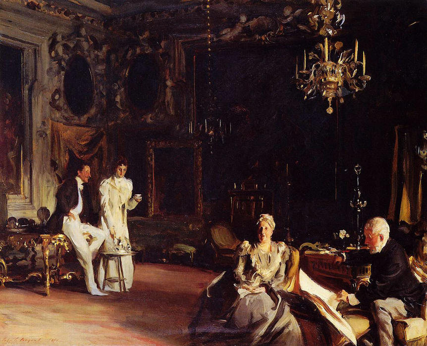 famous painting An Interior in Venice of John Singer Sargent