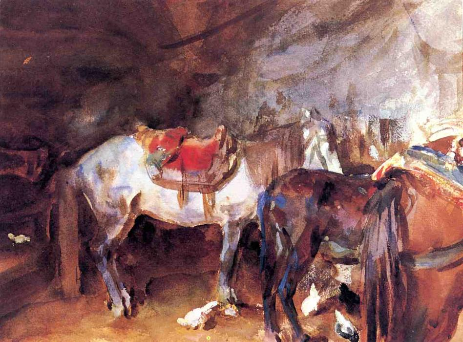 famous painting Arab Stable of John Singer Sargent