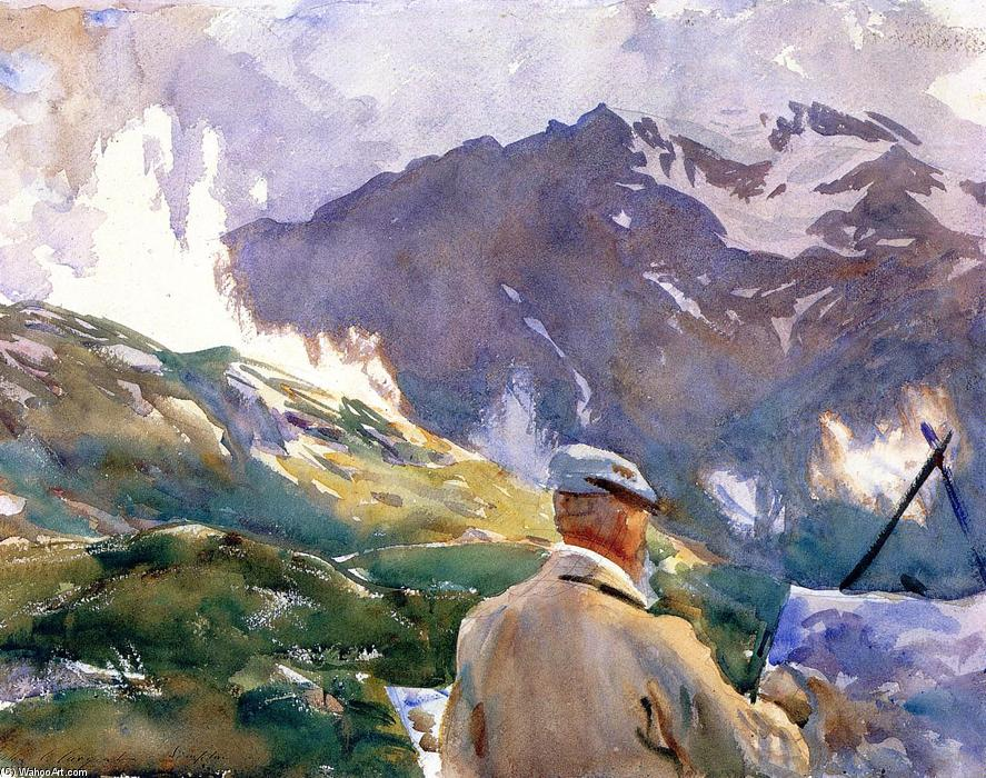 famous painting Artist in the Simplon of John Singer Sargent