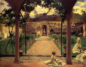 John Singer Sargent - At Torre Galli. Ladies in a Garden