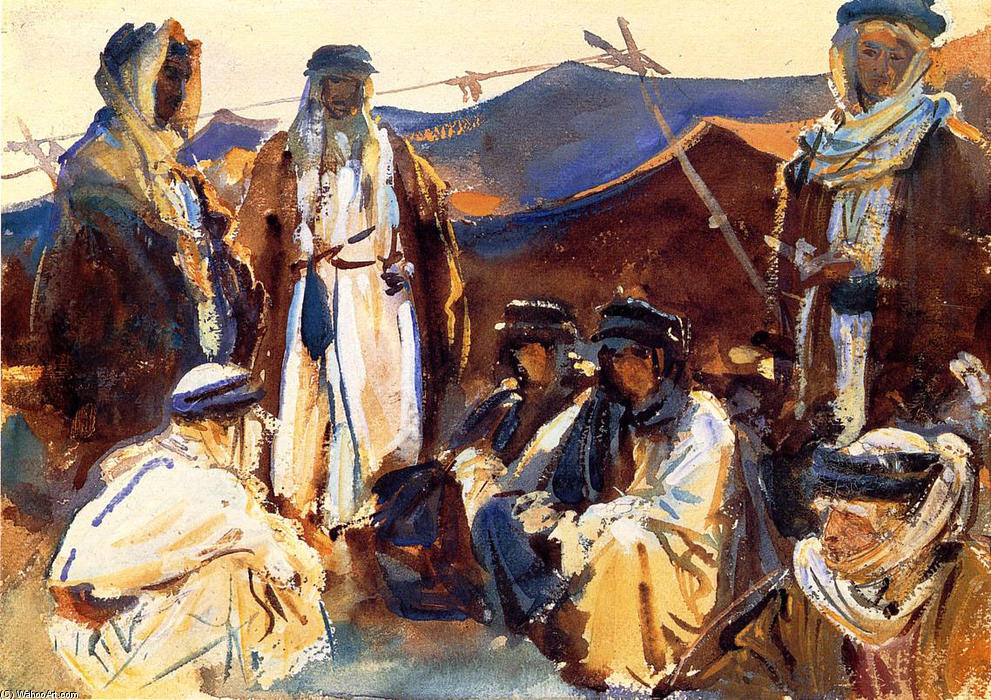 Order Art Reproductions Impressionism | Bedouin Camp by John Singer Sargent | TopImpressionists.com