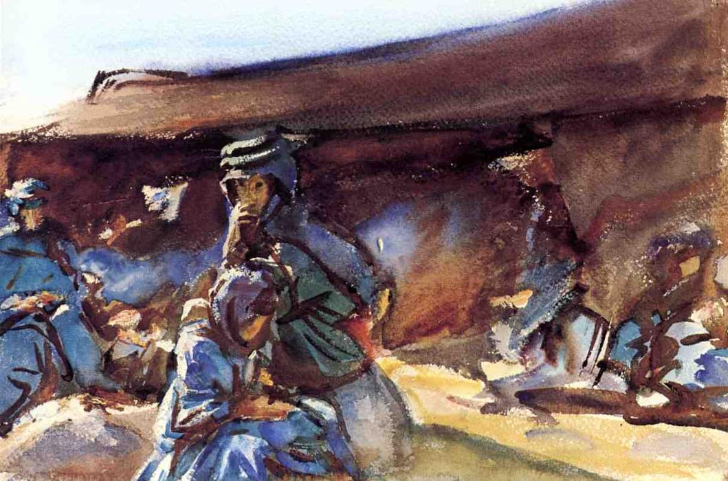 famous painting Black Tent of John Singer Sargent