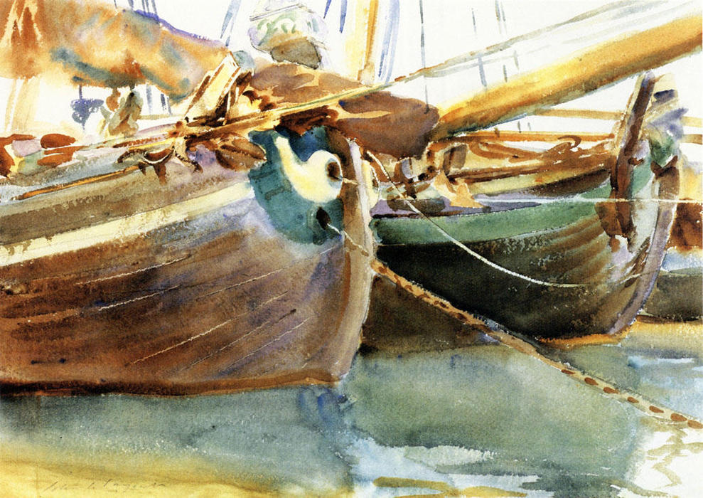famous painting Boats, Venice of John Singer Sargent
