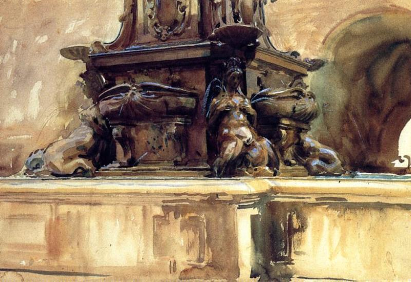 famous painting Bologna Fountain of John Singer Sargent