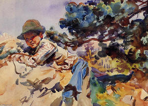 John Singer Sargent - Boy on a Rock