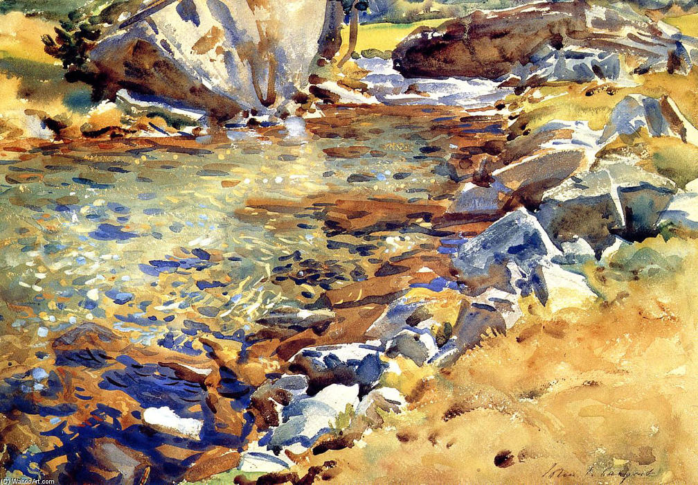 famous painting Brook among Rocks of John Singer Sargent