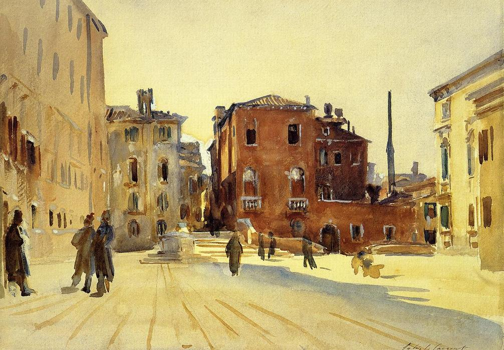 famous painting Campo Dei Gesuiti of John Singer Sargent