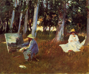 John Singer Sargent - Claude Monet Painting by the Edge of a Wood