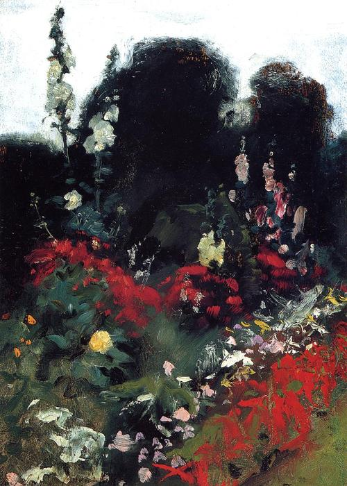 famous painting Corner of a Garden of John Singer Sargent