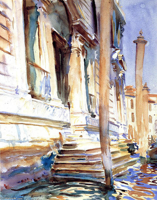 famous painting Doorway of a Venetian Palace of John Singer Sargent