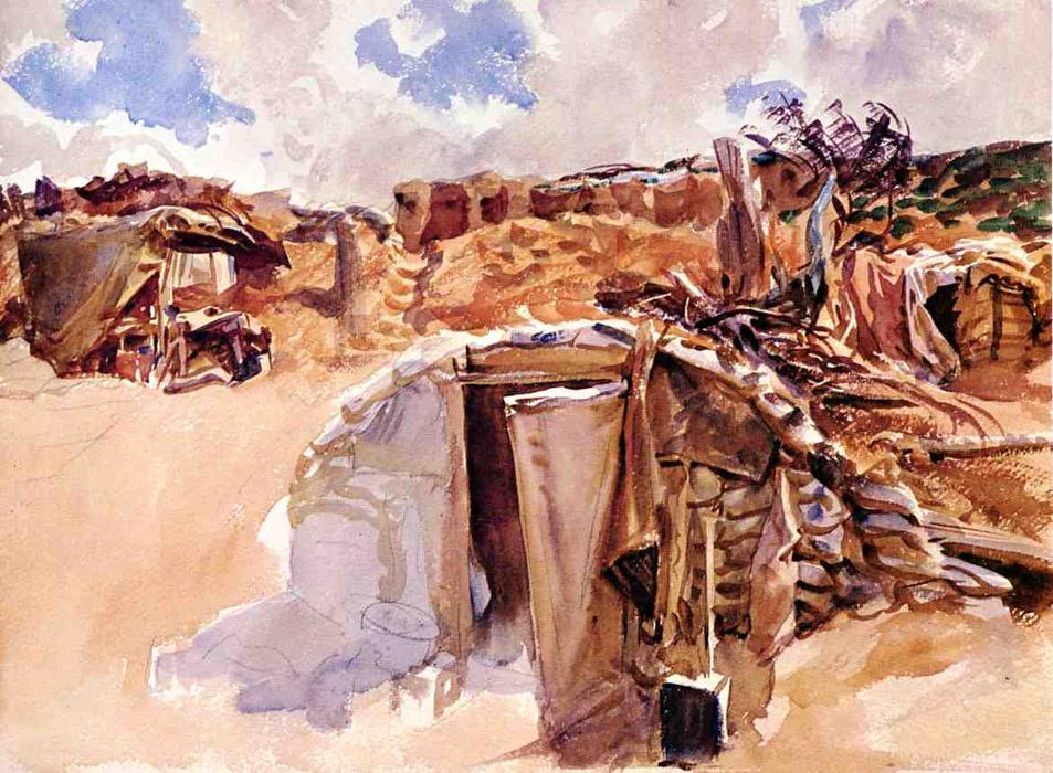famous painting Dugout of John Singer Sargent