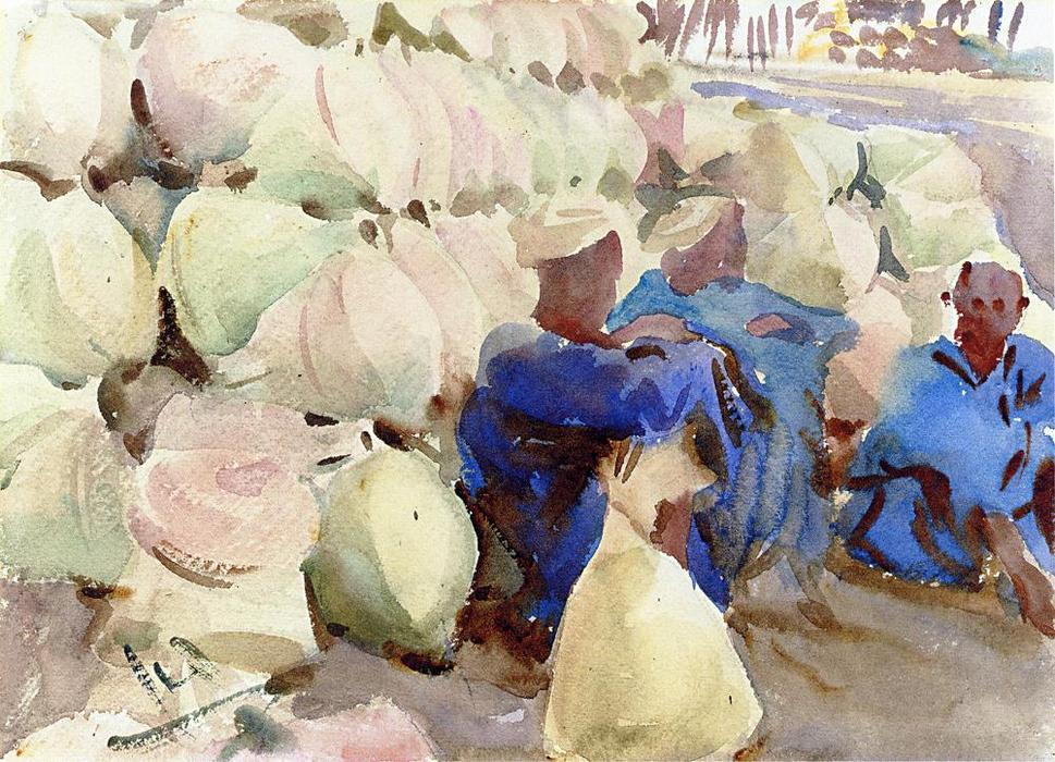 famous painting Egyptian Water Jars of John Singer Sargent